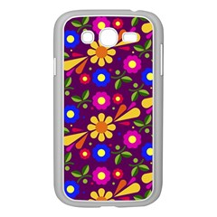 Flower Pattern Illustration Background Samsung Galaxy Grand Duos I9082 Case (white)