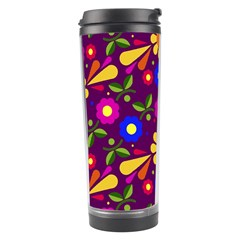 Flower Pattern Illustration Background Travel Tumbler