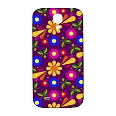 Flower Pattern Illustration Background Samsung Galaxy S4 I9500/i9505  Hardshell Back Case