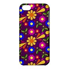 Flower Pattern Illustration Background Apple Iphone 5c Hardshell Case