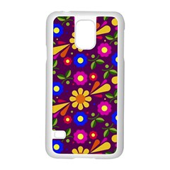 Flower Pattern Illustration Background Samsung Galaxy S5 Case (white)