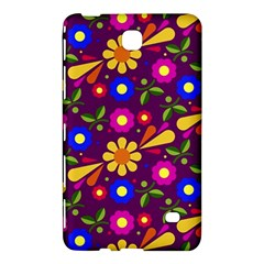 Flower Pattern Illustration Background Samsung Galaxy Tab 4 (7 ) Hardshell Case