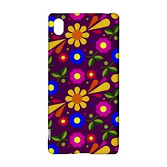 Flower Pattern Illustration Background Sony Xperia Z3+