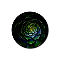 Nature Desktop Flora Color Pattern Rubber Coaster (round)