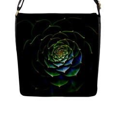 Nature Desktop Flora Color Pattern Flap Messenger Bag (l)