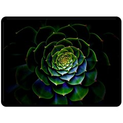 Nature Desktop Flora Color Pattern Double Sided Fleece Blanket (large)