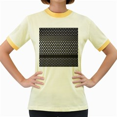 Holes Sheet Grid Metal Women s Fitted Ringer T Shirts