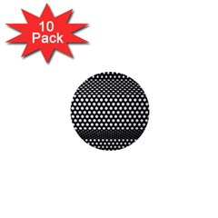 Holes Sheet Grid Metal 1  Mini Buttons (10 Pack)