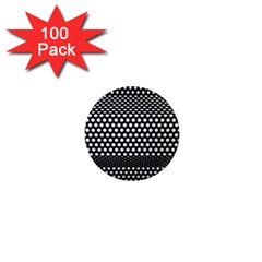 Holes Sheet Grid Metal 1  Mini Magnets (100 Pack)