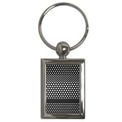 Holes Sheet Grid Metal Key Chains (rectangle)