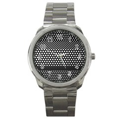 Holes Sheet Grid Metal Sport Metal Watch