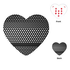 Holes Sheet Grid Metal Playing Cards (heart)