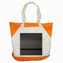 Holes Sheet Grid Metal Accent Tote Bag