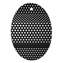 Holes Sheet Grid Metal Oval Ornament (two Sides) by Nexatart