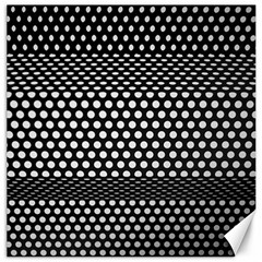 Holes Sheet Grid Metal Canvas 16  X 16   by Nexatart