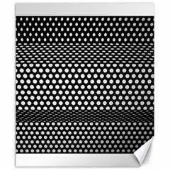 Holes Sheet Grid Metal Canvas 20  X 24   by Nexatart