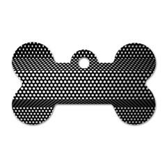 Holes Sheet Grid Metal Dog Tag Bone (two Sides)
