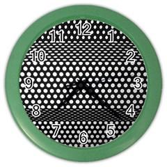 Holes Sheet Grid Metal Color Wall Clocks