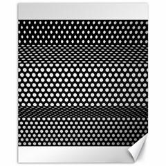 Holes Sheet Grid Metal Canvas 11  X 14