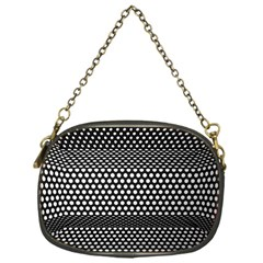 Holes Sheet Grid Metal Chain Purses (one Side)