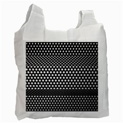 Holes Sheet Grid Metal Recycle Bag (one Side) by Nexatart