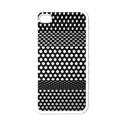 Holes Sheet Grid Metal Apple Iphone 4 Case (white)