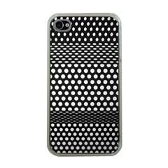 Holes Sheet Grid Metal Apple Iphone 4 Case (clear)