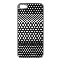 Holes Sheet Grid Metal Apple Iphone 5 Case (silver)