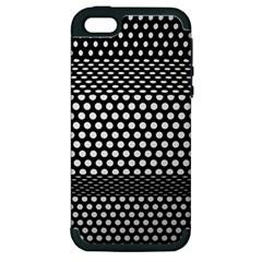 Holes Sheet Grid Metal Apple Iphone 5 Hardshell Case (pc+silicone)