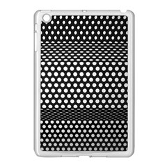 Holes Sheet Grid Metal Apple Ipad Mini Case (white)