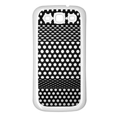 Holes Sheet Grid Metal Samsung Galaxy S3 Back Case (white)
