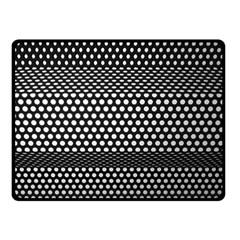 Holes Sheet Grid Metal Double Sided Fleece Blanket (small)