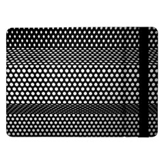 Holes Sheet Grid Metal Samsung Galaxy Tab Pro 12 2  Flip Case
