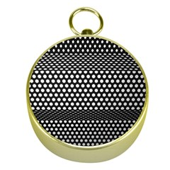 Holes Sheet Grid Metal Gold Compasses
