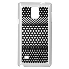 Holes Sheet Grid Metal Samsung Galaxy Note 4 Case (white)