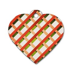 Wallpaper Creative Design Dog Tag Heart (one Side)