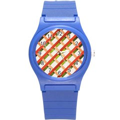 Wallpaper Creative Design Round Plastic Sport Watch (s)