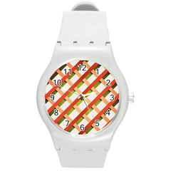 Wallpaper Creative Design Round Plastic Sport Watch (m)