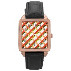 Wallpaper Creative Design Rose Gold Leather Watch
