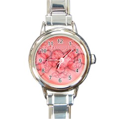 Heart Love Friendly Pattern Round Italian Charm Watch