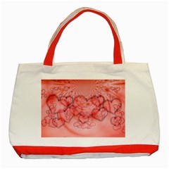 Heart Love Friendly Pattern Classic Tote Bag (red)