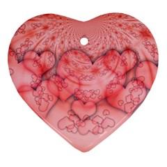 Heart Love Friendly Pattern Heart Ornament (two Sides) by Nexatart