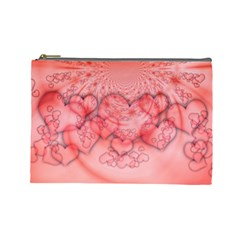 Heart Love Friendly Pattern Cosmetic Bag (large)