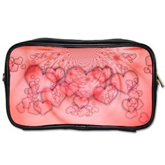 Heart Love Friendly Pattern Toiletries Bags 2 Side by Nexatart
