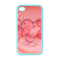 Heart Love Friendly Pattern Apple Iphone 4 Case (color)
