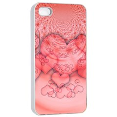Heart Love Friendly Pattern Apple Iphone 4/4s Seamless Case (white)
