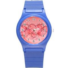 Heart Love Friendly Pattern Round Plastic Sport Watch (s)