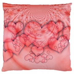 Heart Love Friendly Pattern Large Cushion Case (one Side)