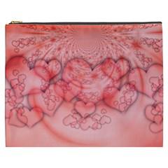 Heart Love Friendly Pattern Cosmetic Bag (xxxl)  by Nexatart