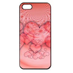 Heart Love Friendly Pattern Apple Iphone 5 Seamless Case (black)